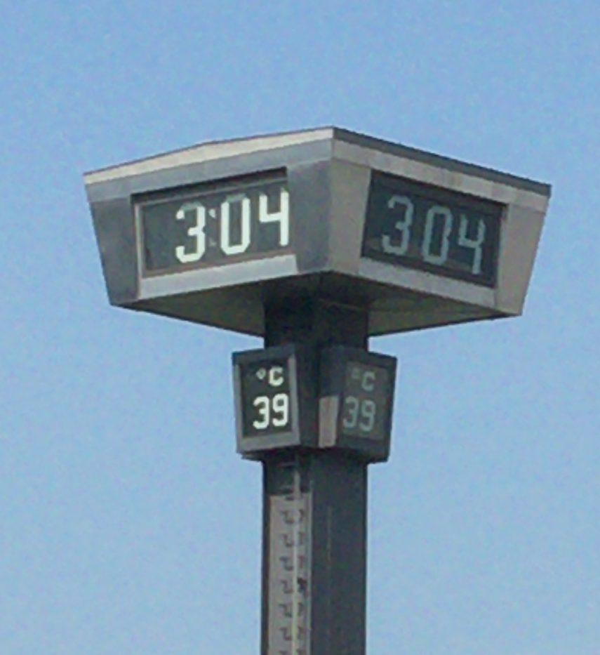 豊田市 2016年8月8日の猛暑