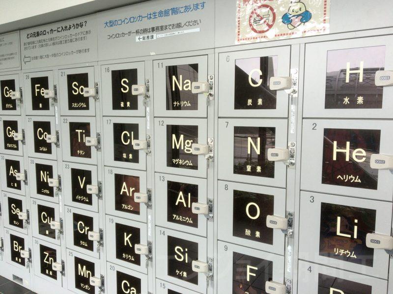 元素周期表のコインロッカー